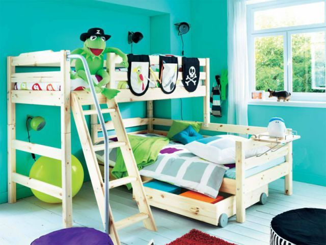 deux enfants une chambre huit solutions pour partager l 39 espace lit mezzanine pinterest. Black Bedroom Furniture Sets. Home Design Ideas