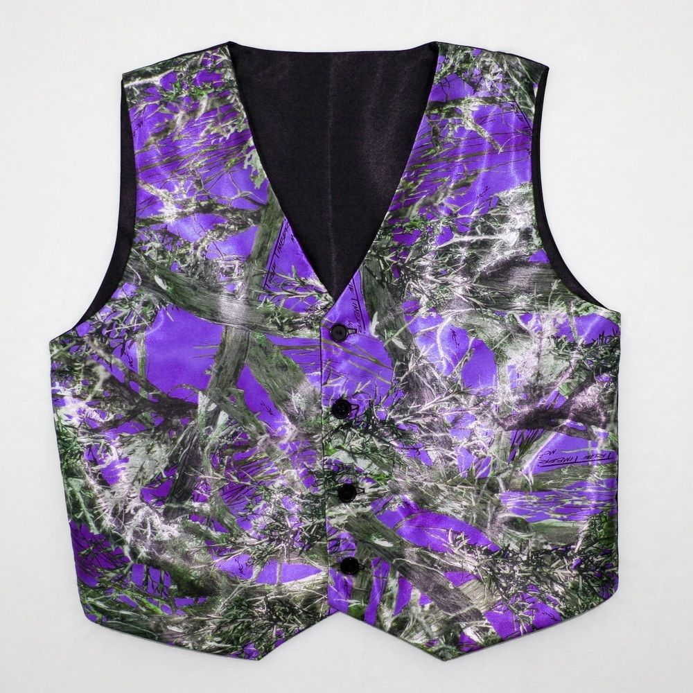 True Timber Purple Camouflage Vest Camo Vest Camo Wedding