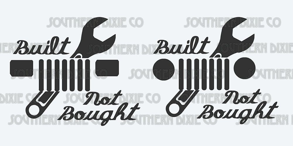 Built, not bought jeep decal! by SouthernDixieCo on Etsy