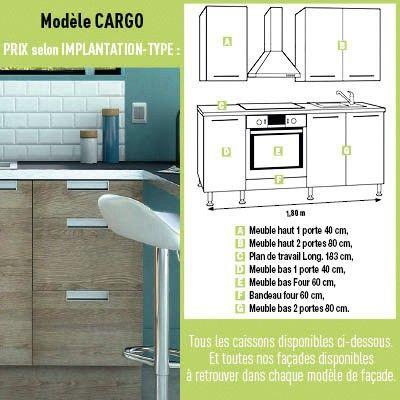 CUISINE CARGO CARGO Brico Dépôt Déco Et Agencement - Meuble bas cuisine 120 brico depot pour idees de deco de cuisine