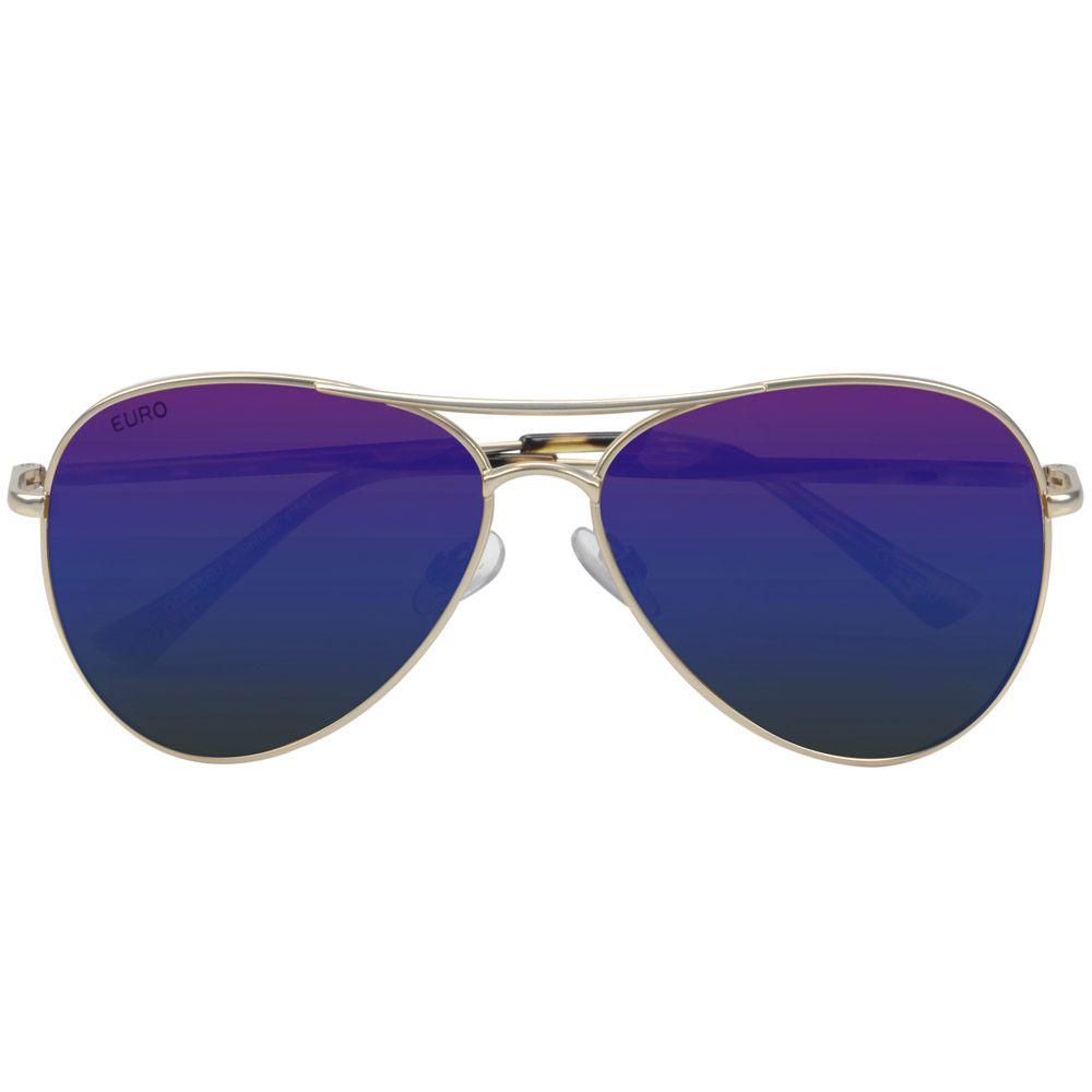 52ff20597ae30 Óculos sol Euro Feminino Espelhado Azul OC023EU 4A - euro