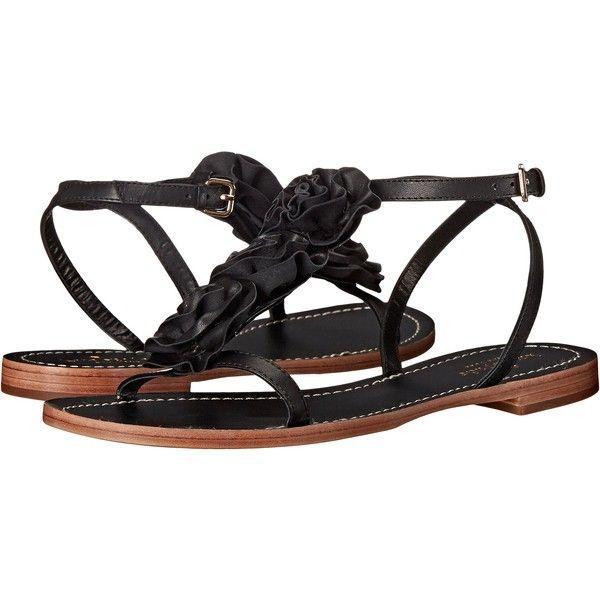 Kate Spade New York Caryl (Black Soft Vacchetta) Women's Dress Sandals  ($108)