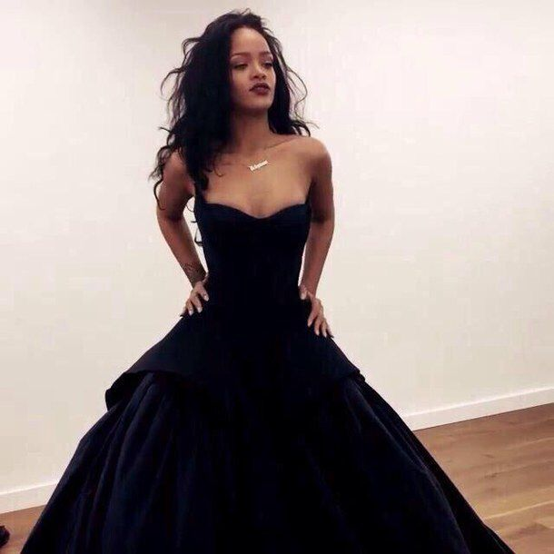 classical black gown