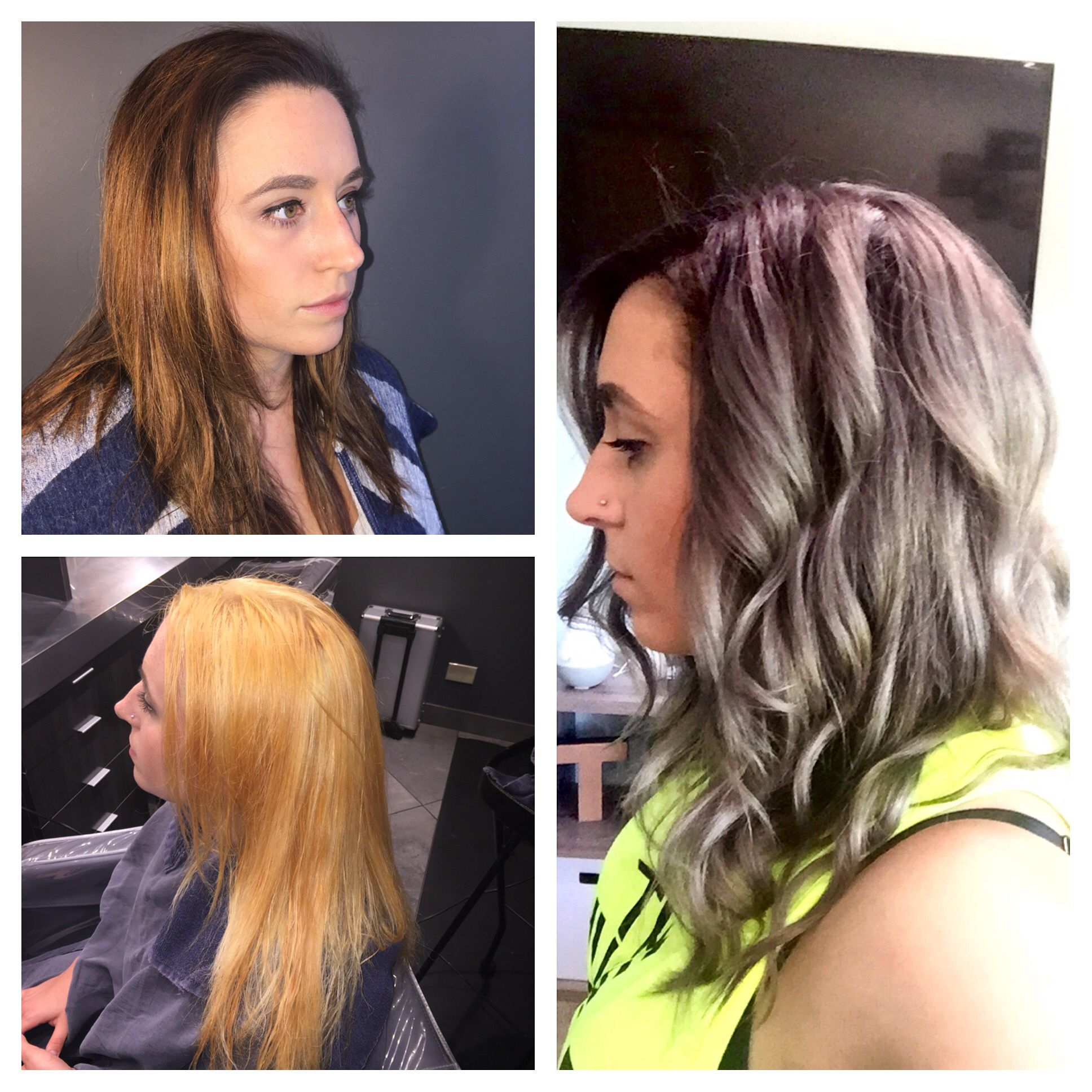 Before and after hair makeover, hair color Gray hair, shadow root ...