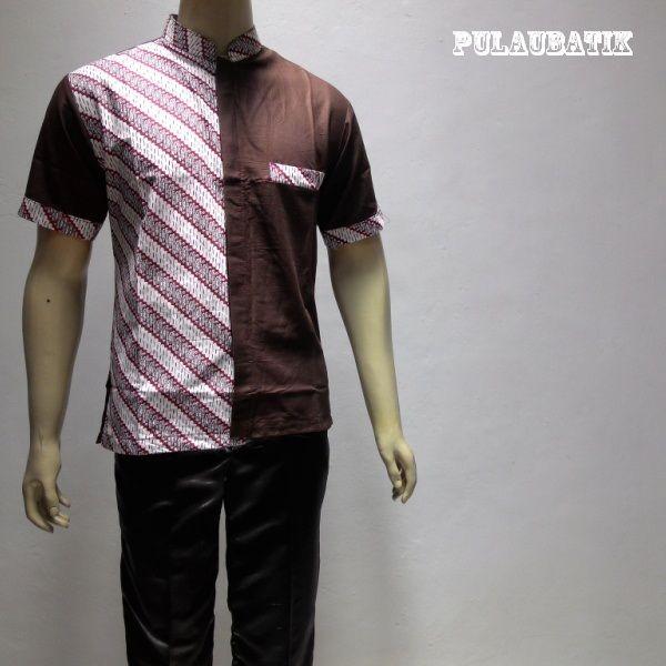 BATIK PRIA MODERN LENGAN PENDEK RC663  Model baju batik pria