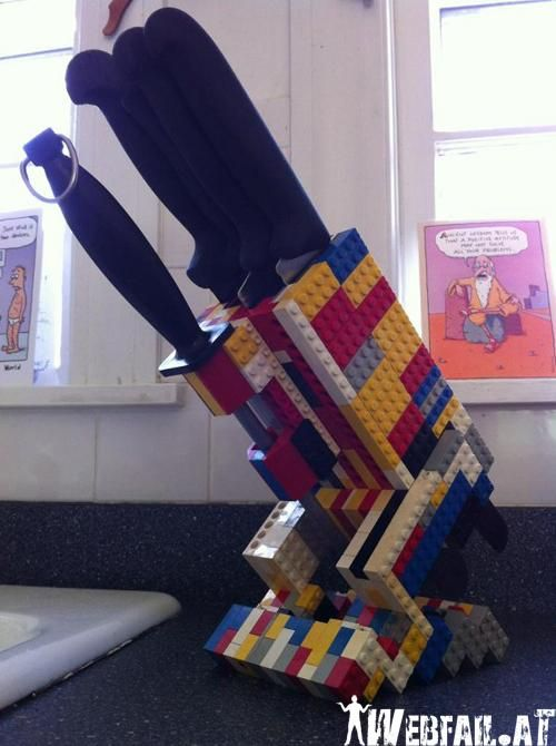 I kind of like this lego knife holder. I wonder what else I could do with legos...