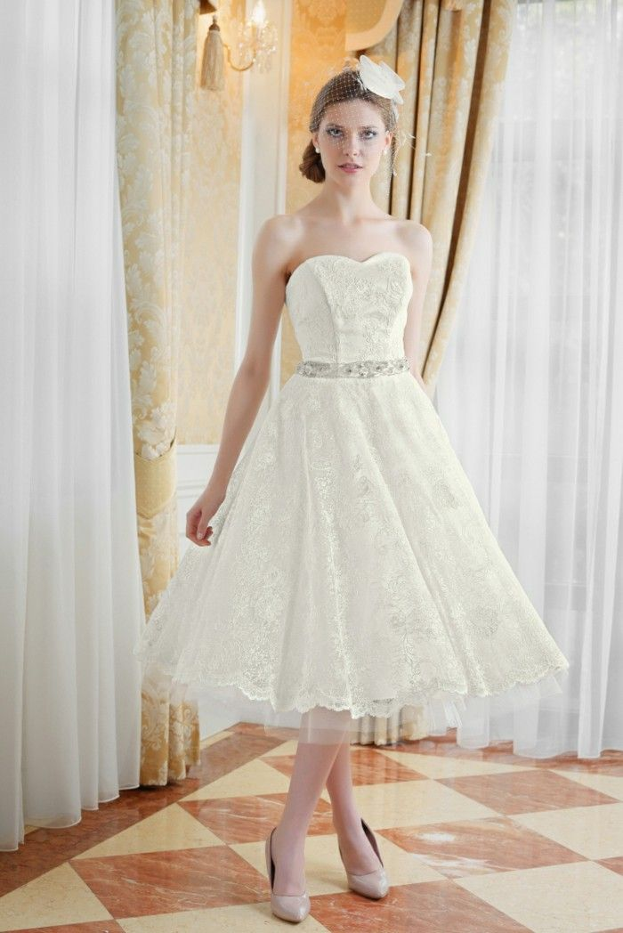 Short wedding dresses 2016 retro style vintage wedding dress dress ...