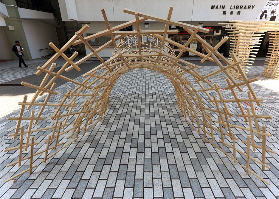 Weaving Bridge Timber Woven Arch Bridge China Reciprocal