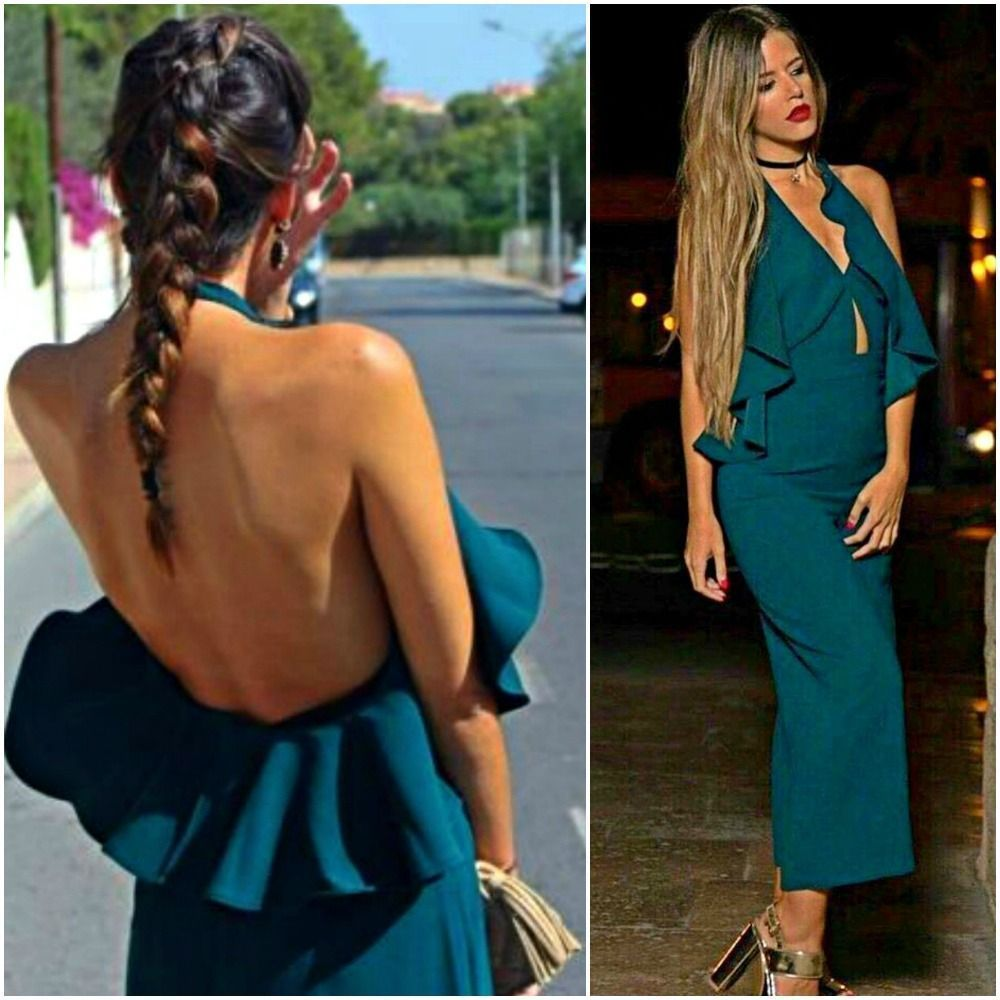 d4b06a2accbf Zara Green Long Jumpsuit With Crossover Neckline Woman Authentic Bnwt  7999/778
