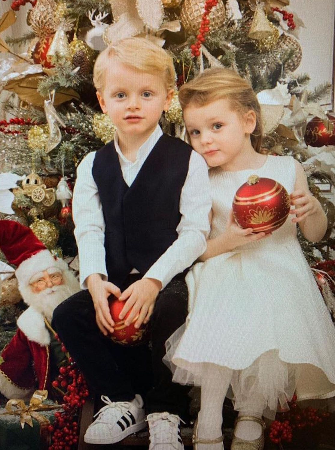Monaco Twins Prince Jacques and Princess Gabriella Are Ready for Christmas!  See the Cute Portrait | Princess charlene, Princess grace, Monaco royal  family