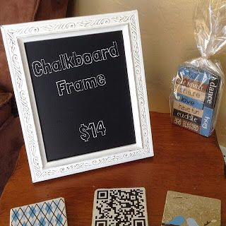 Chalkboard picture frame! @VinylExpressions