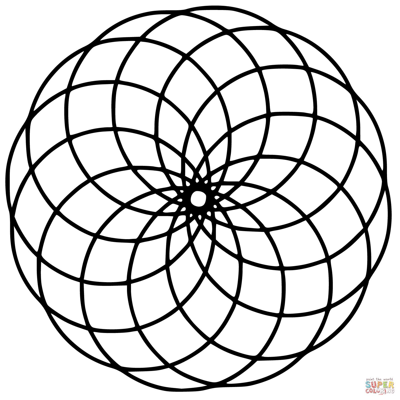 circle mandala | super coloring | geometría sagrada, flor