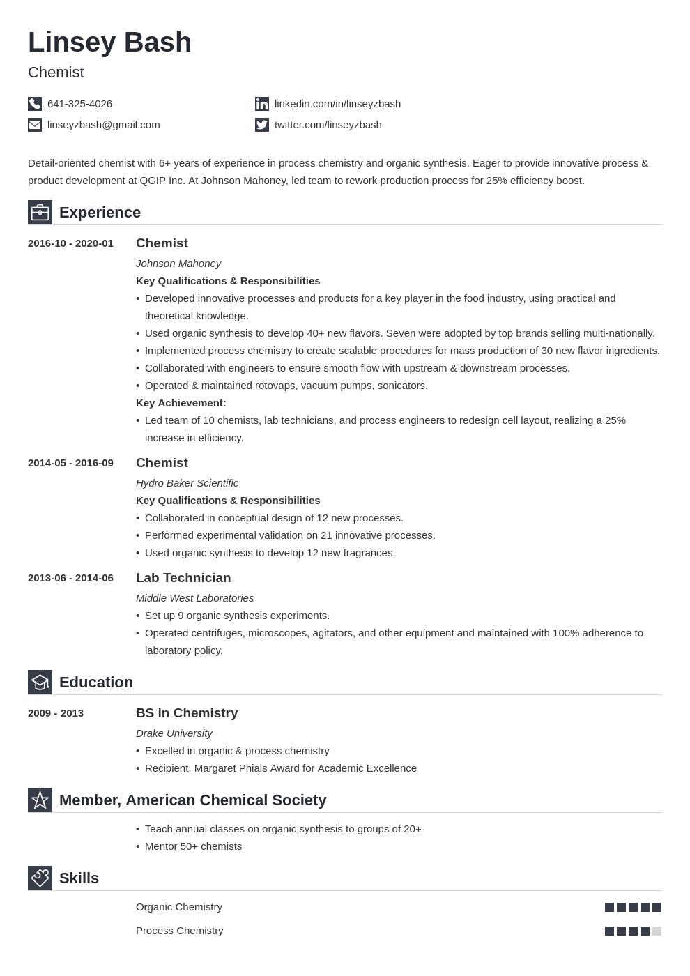 Chemistry Resume Example Template Iconic Job Resume Examples Resume Examples Resume Layout