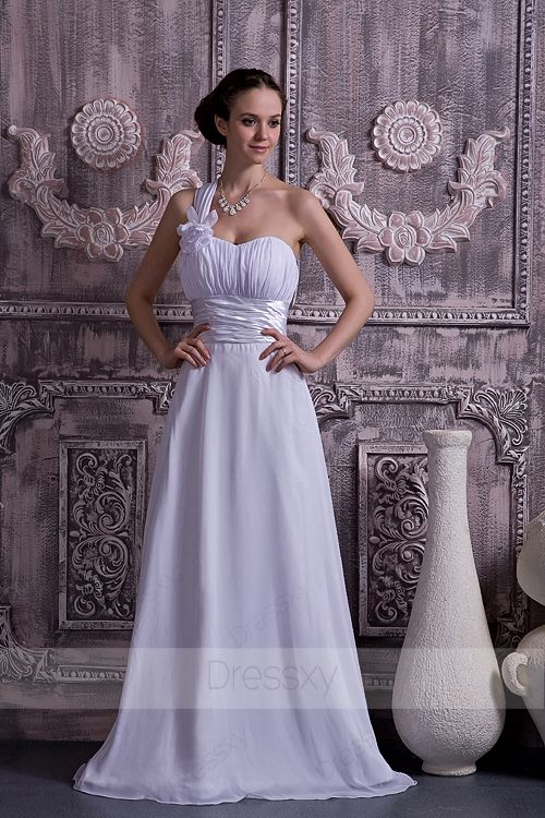 Luxury Princess Floor-length Cathedral Train One Shoulder Lace-up ...