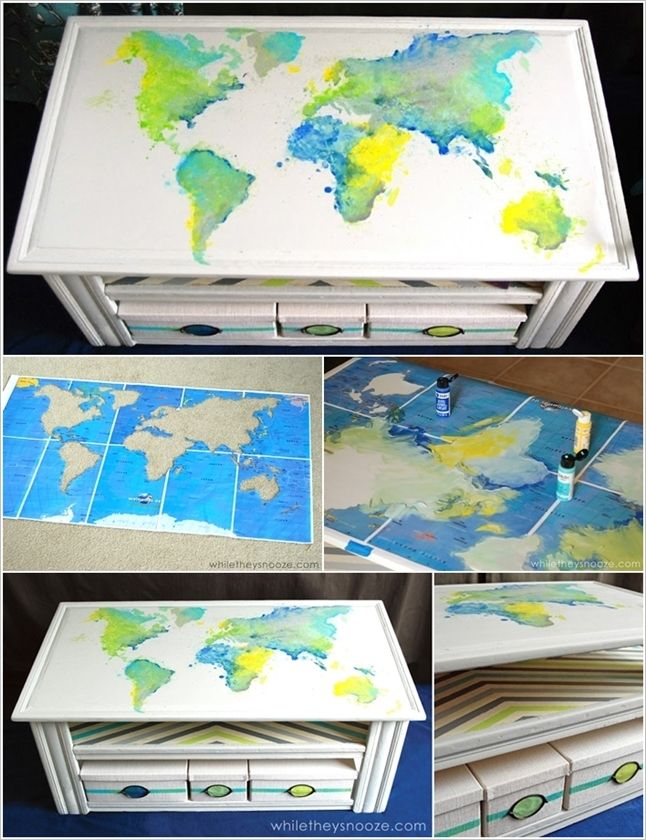 Exceptional 5 Spectacular Map Coffee Table Painting Ideas That Youu0027d Like To Try