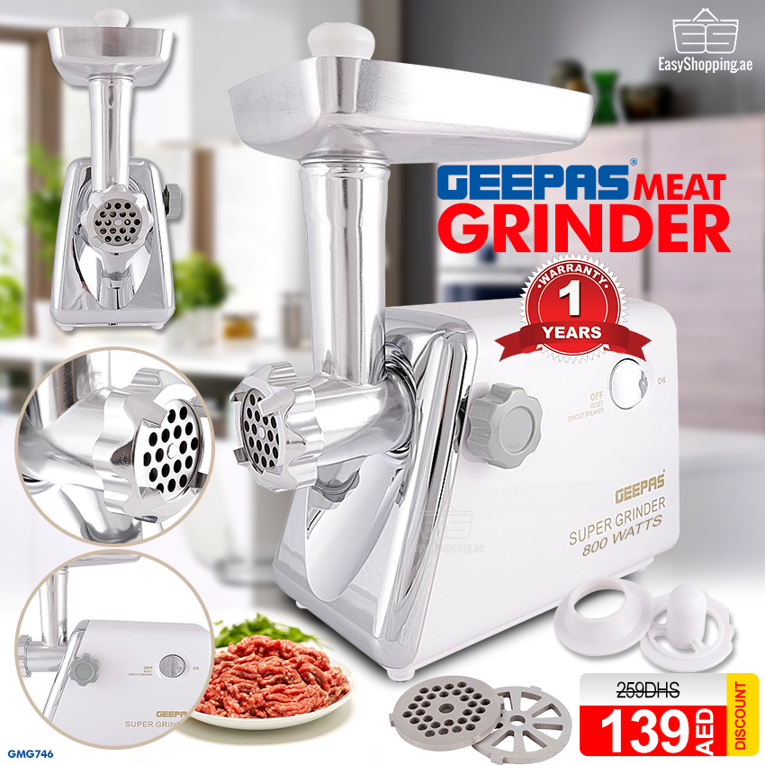 GEEPAS Meat Grinder GMG746 800 Watts Save 46, Price 145