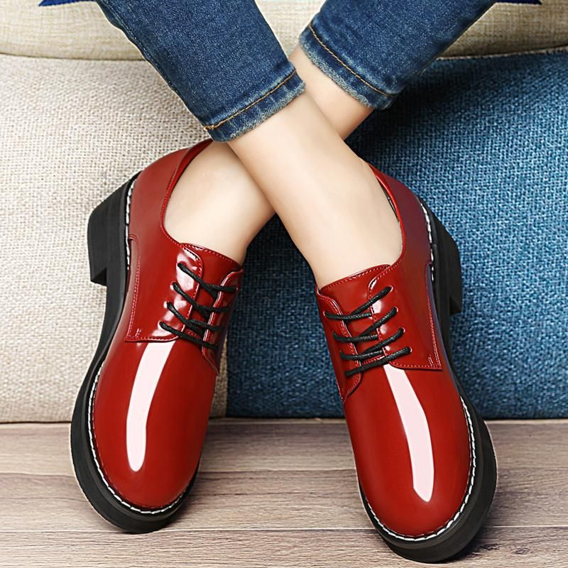 2016 Spring Shoes Womens Shoes Fashion Dress Shoes Cheap Woman Pu Shoes  Patent Leather Shoes For
