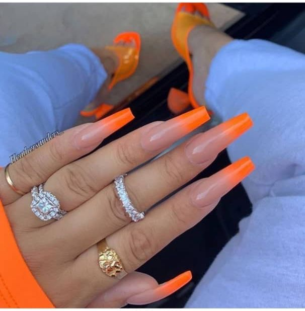 28 Beautiful Orange Nail Designs Perfect For Fall - The Glossychic