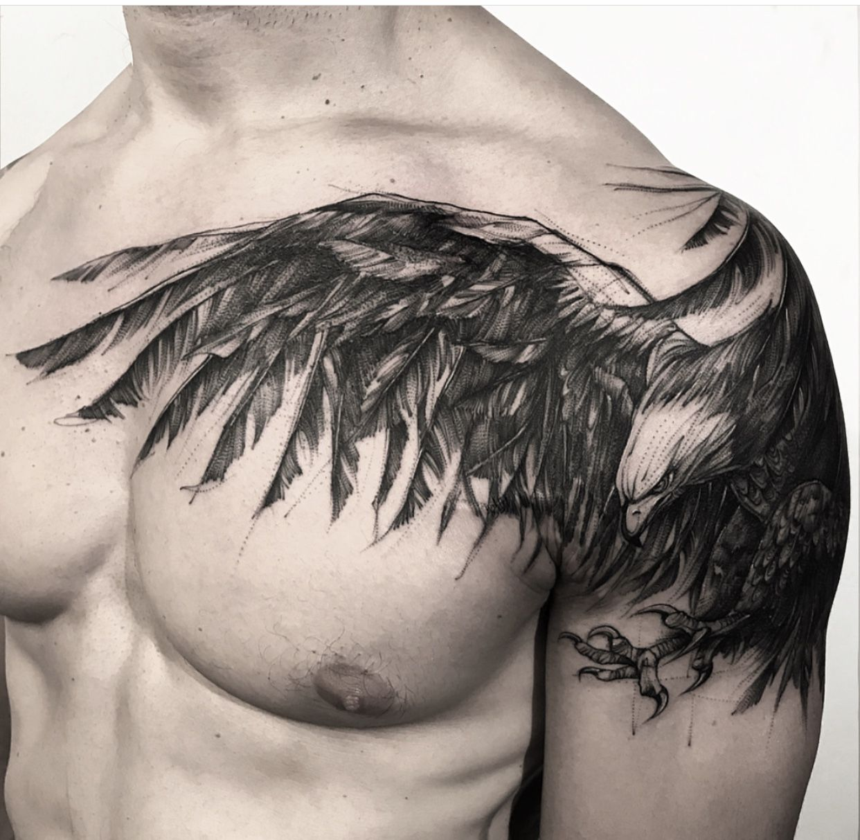 Chest Sleeve Eagle Tattoo Cool Chest Tattoos Tattoo Gallery For Men Chest Tattoo Men