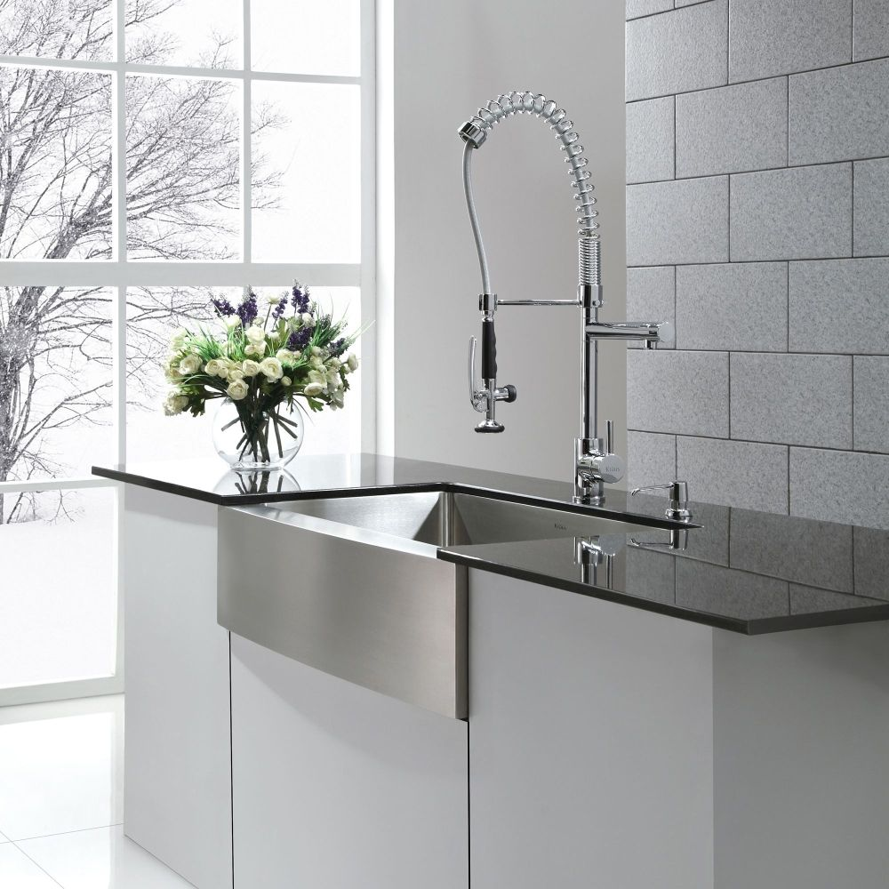 Kraus KHF200-36 Professional Kraus 36 Inch Farmhouse Apron Single Bowl 16 Gauge Stainless Steel Kitchen Sink Stainless Steel-eFaucets.com