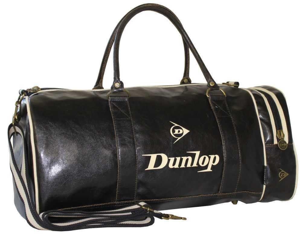 Dunlop Retro Gym Holdall Sports Weekend Barrel Shoulder Bag Black   Amazon.co.uk  Clothing af2be52197