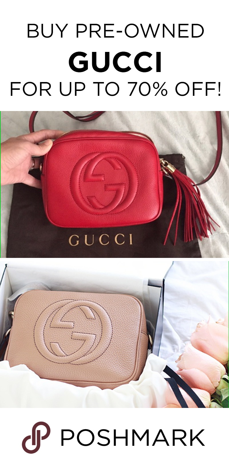 Find authentic Gucci bags up to 70% off on Poshmark