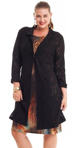 From Samaya Moods is this simply stunning black lace jacket!  Price $115.00