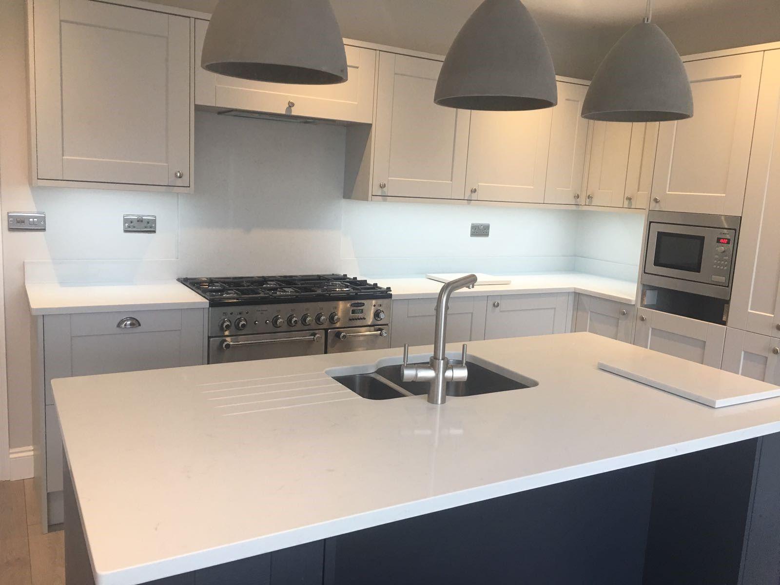 Stunning Cimstone Marble Effect Nebula Carrara Quartz Kitchen