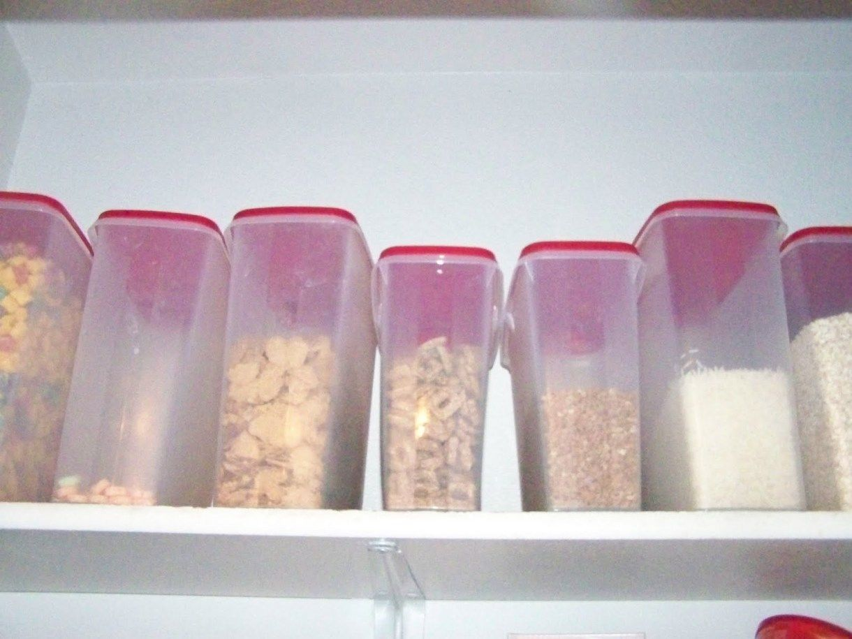 Cereal Storers, I LOVE these! They are the cereal storers from Tupperware- and you can buy them until Friday 8-27-10 for 2 for $35! After Friday they will be $1... ,  #AwesomeProducts #HomeSmarts #MoneySavingIdeas,  #ProductReviews