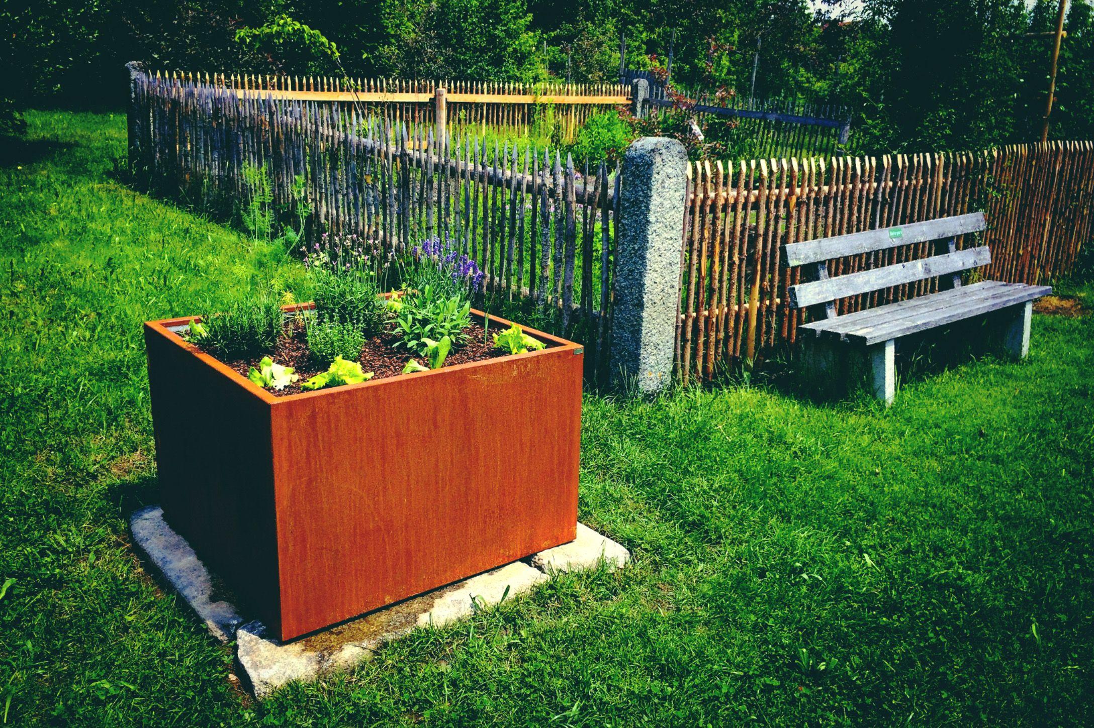 Garten Idee Hochbeet Aus Edelrost Rost Stahl Cortenstahl Hochbeet Cortenstahl Haus Und Garten