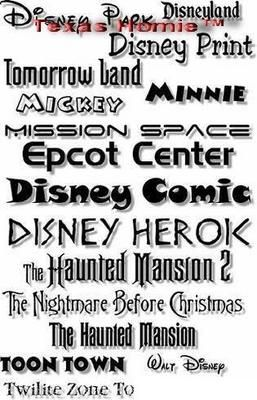 Download Amazing Disney Print Fonts Collection - DOWNLOAD RIGHT NOW ...