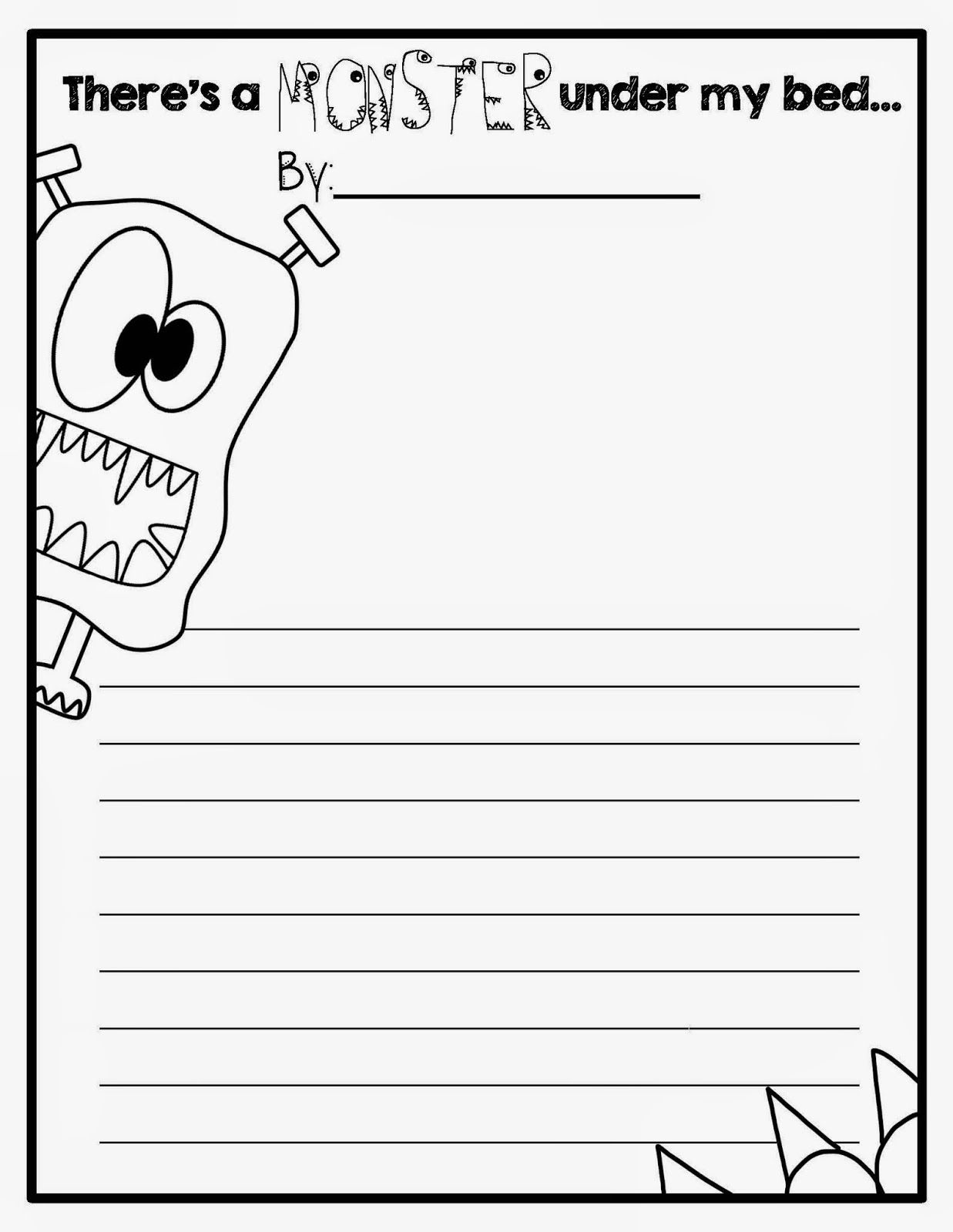 Totally Terrific In Texas I Monsters First Grade Writing Elementary Writing 3rd Grade Writing [ 1600 x 1237 Pixel ]