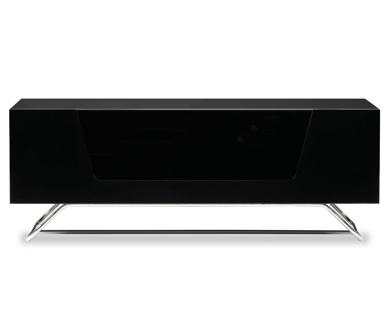 Alphason Chromium 2 Black Black Tv Cabinets Tvs