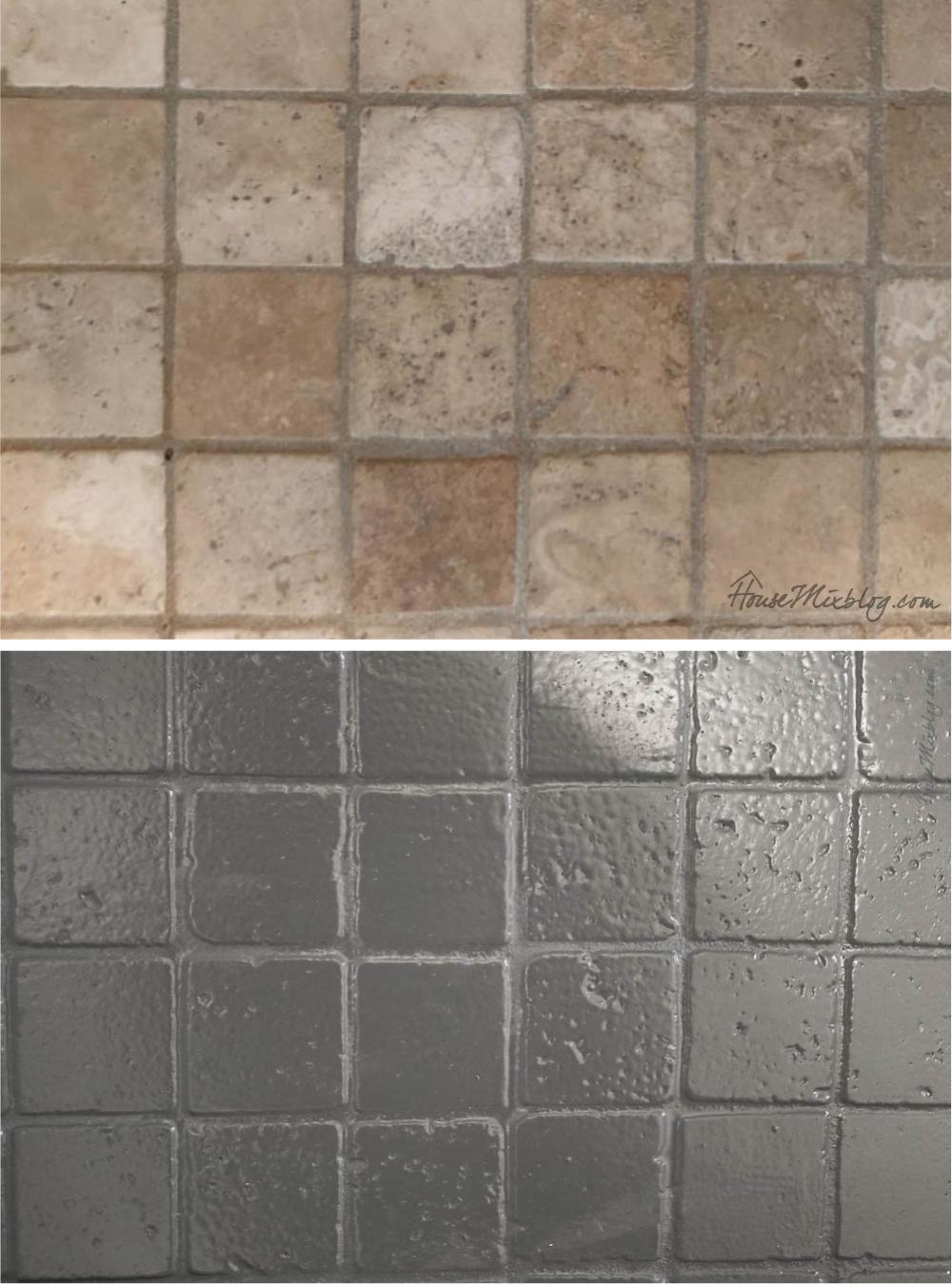 How To Paint Bathroom Tile Floor Shower Backsplash In 2020 Painting Bathroom Tiles Painting Bathroom Shower Floor