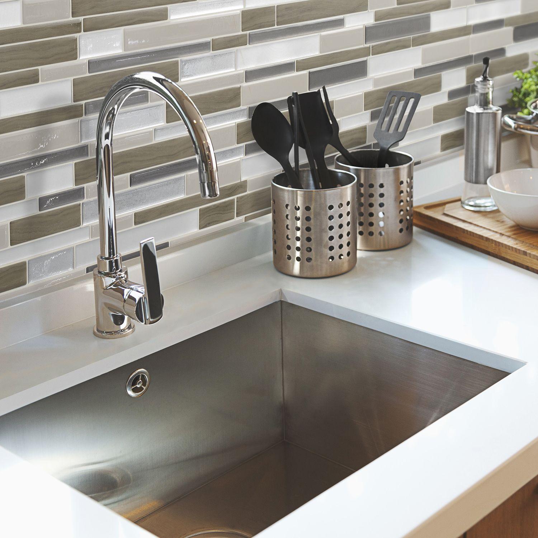 Peel and stick kitchen backsplash Smart Tiles (With