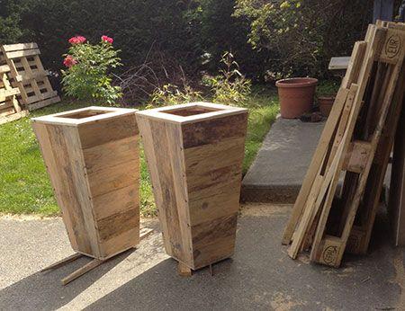 jardiniere en bois amenagement jardin