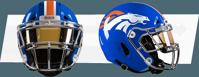 Welcome Cool Football Helmets Denver Broncos Uniform Football Helmets