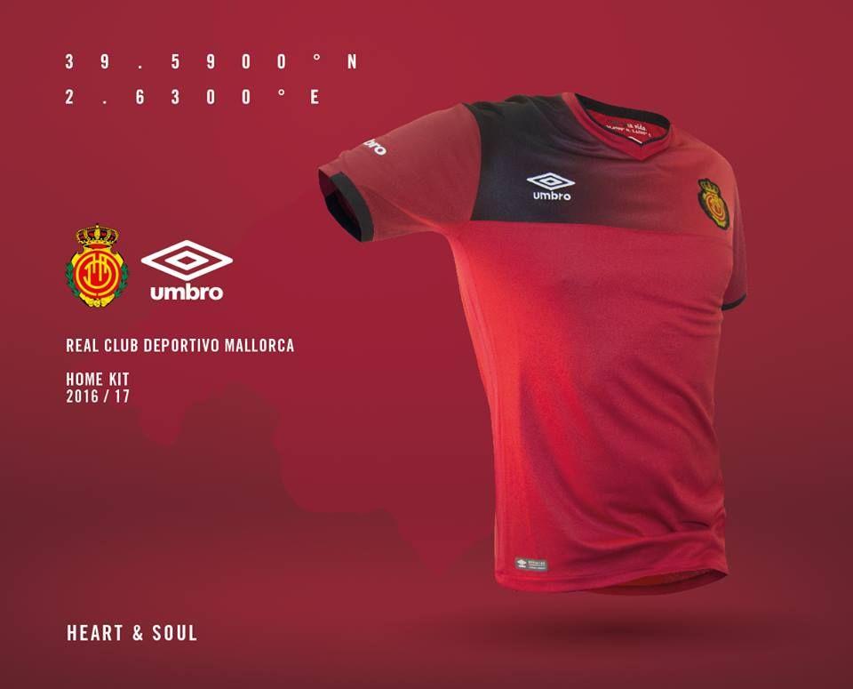 Camisas do RCD Mallorca 2016-2017 Umbro Titular a4f55a94bf568