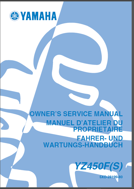 2002 2006 Yamaha Yz450f Service Repair Manual Collection Repair Manuals Repair Manual