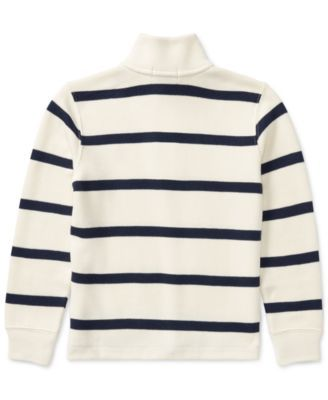 f294e87c4fb1 Ralph Lauren Striped Half-Zip Sweater