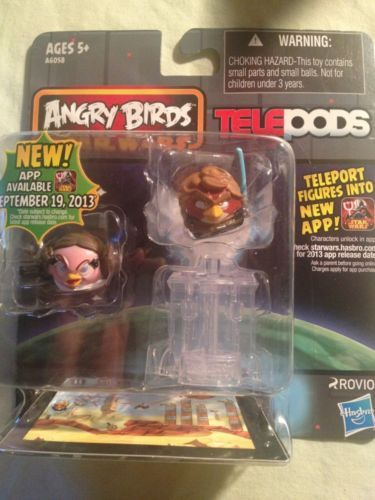 Angry Birds Star Wars Telepods Leia Sith Eyes Anakin Mip