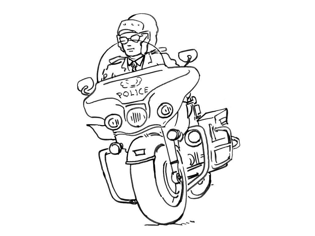 Policier moto colorie les motos pinterest dessin coloriage et police - Dessin voiture de police ...