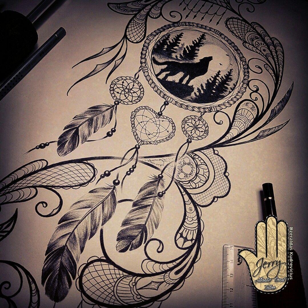 Dream Catcher Tattoo Design Idea: Dream Catcher Tattoo Design Idea