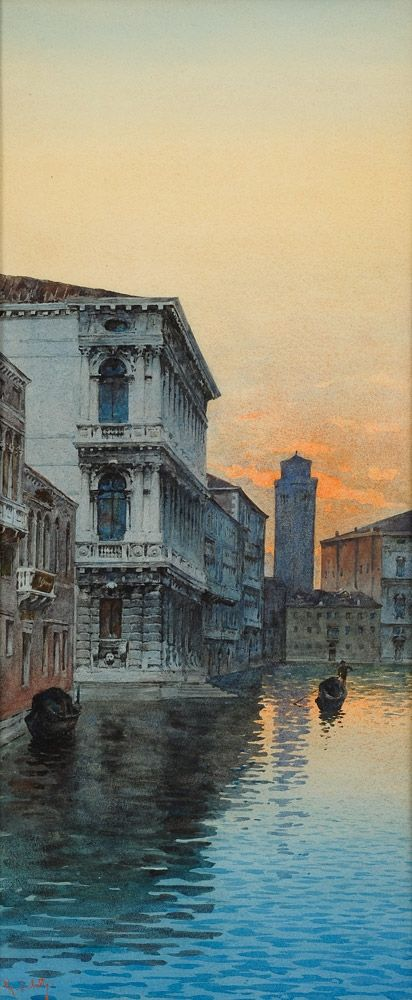 Saletta, G. Italien 19./20. Jhdt. Venezianischer Kanal