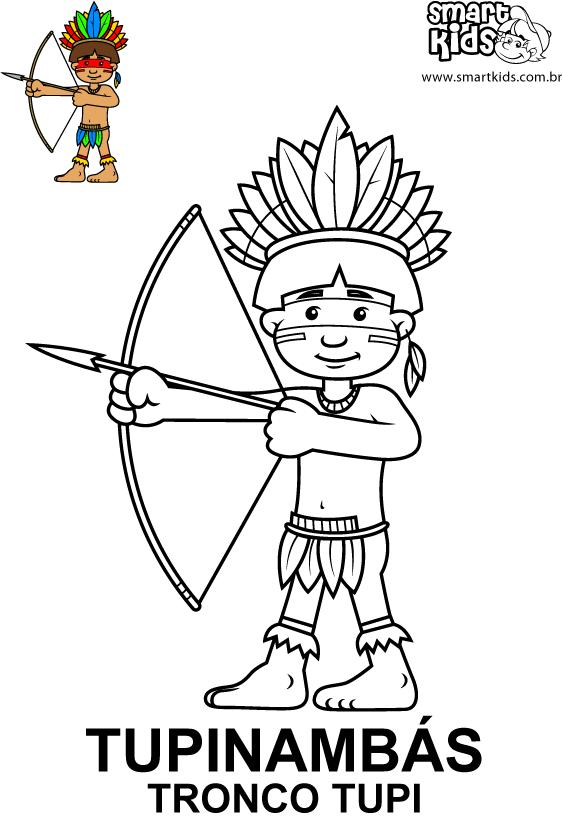 Colorir Desenho Tupinambas Indio Desenho Indios Brasileiros E