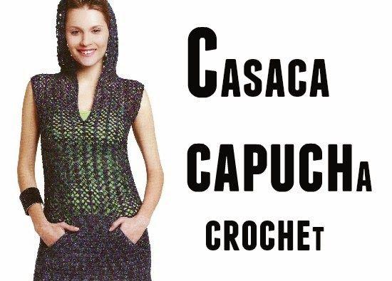 Tunica Casaca con Capucha Patron | Chaleco con Capucha Mujer ...