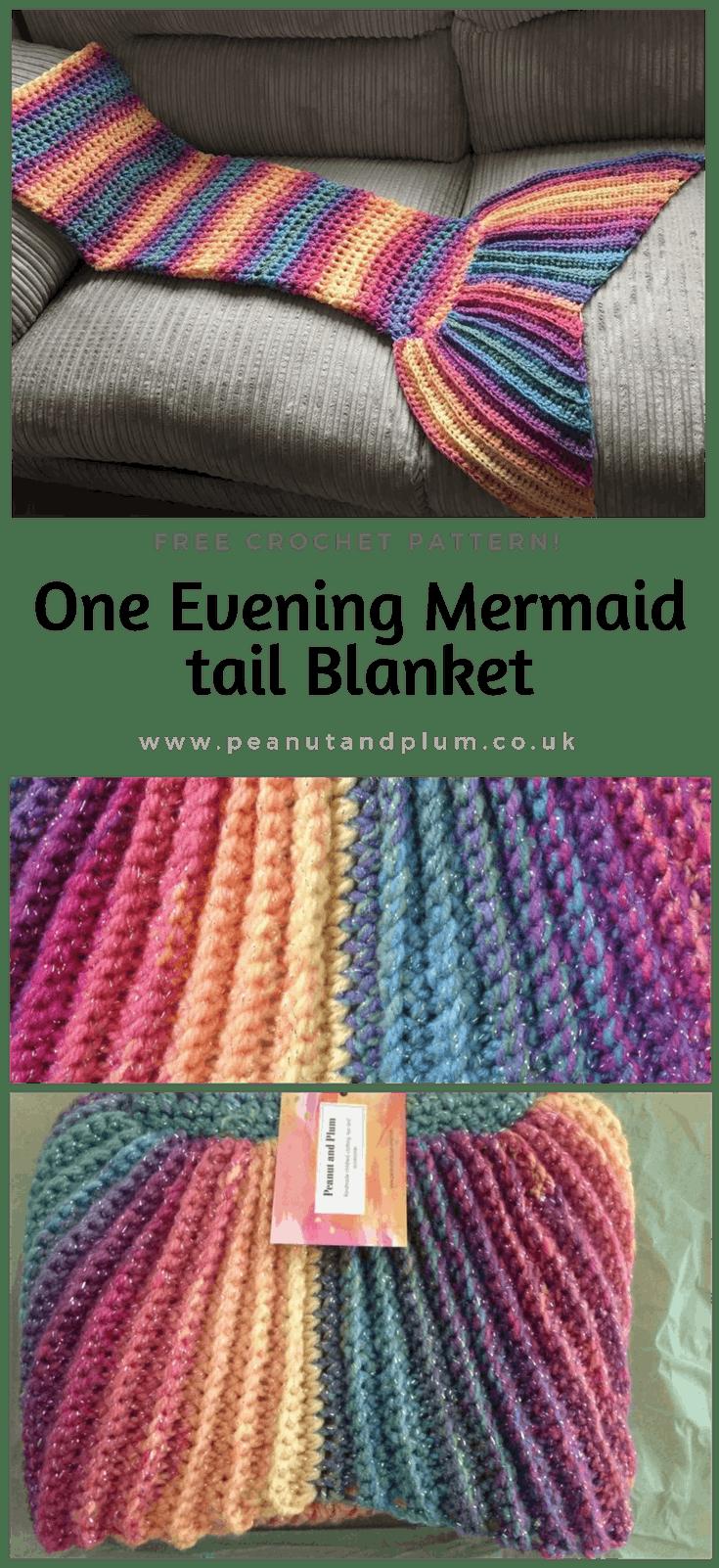 One evening Crochet Mermaid tail blanket pattern - | Cola de sirena ...