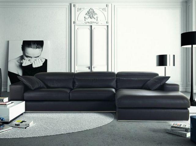 Shopping notre s lection de 30 canap s d 39 angle elle d coration salon living room - Salon canape noir ...