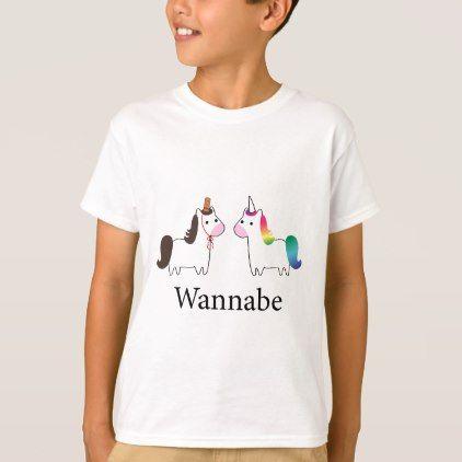 Wannabe Unicorn T Shirt Funny Unicorn Unique Lol Customize