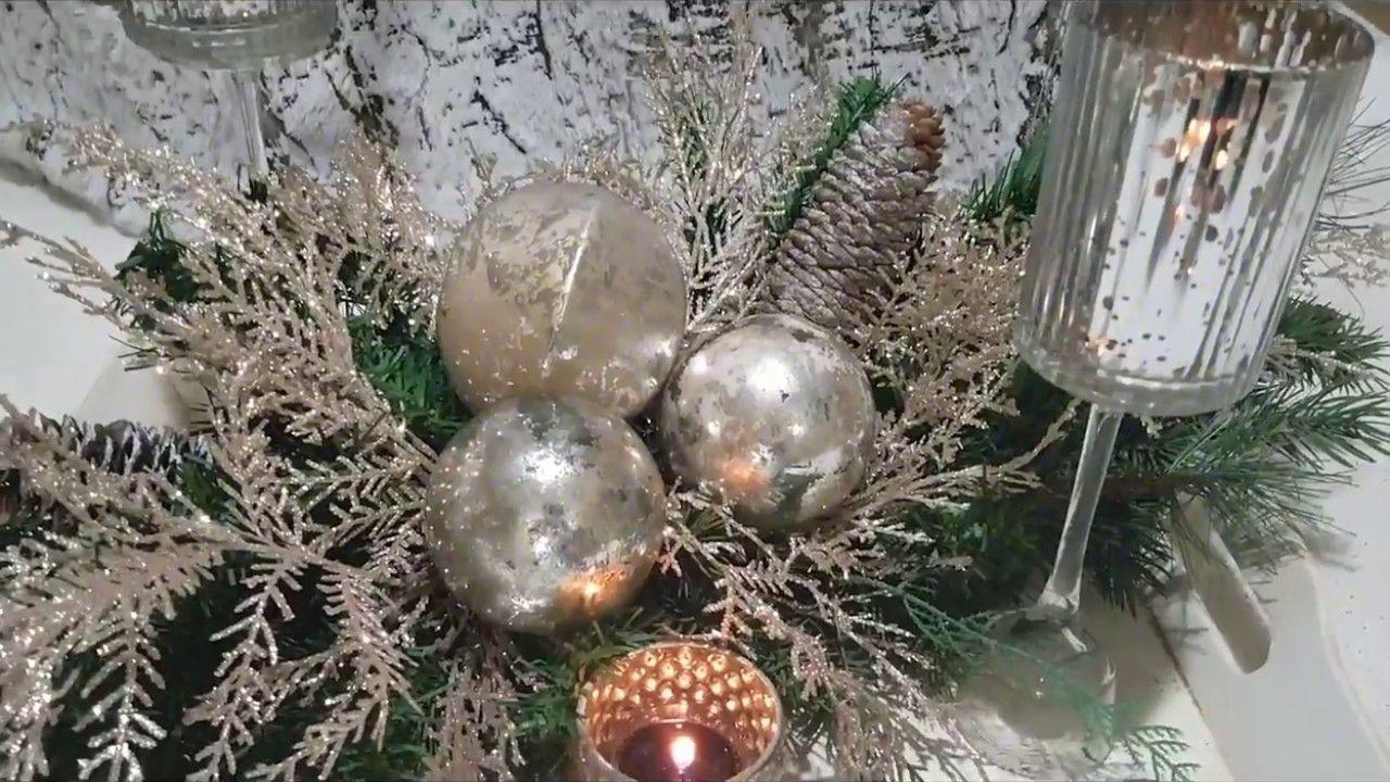 Easy u elegant christmas centerpiece plus diy dollar tree candle